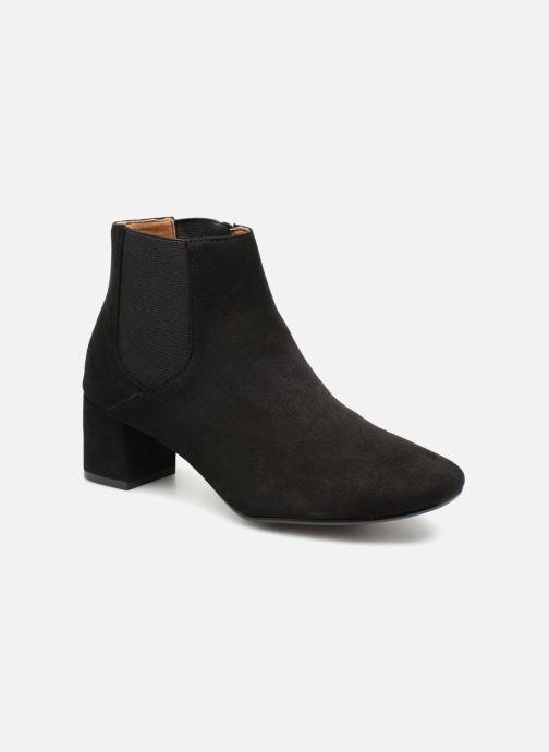 Bottines et boots Monoprix Femme BOTTINES TALON SUEDE Noir vue détail/paire