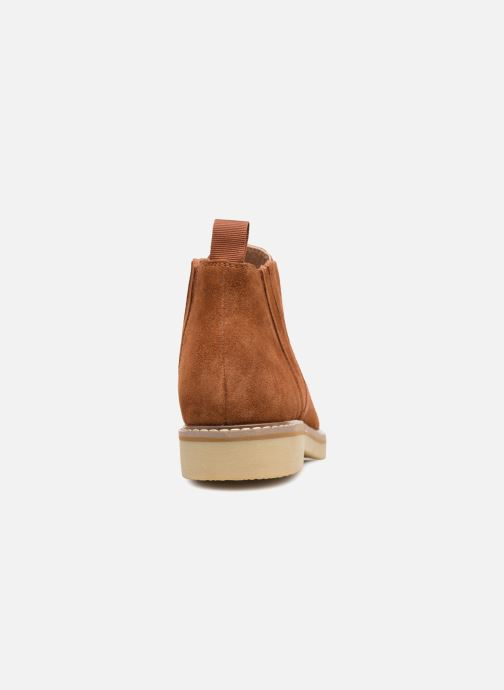 Ankle boots Monoprix Femme CHELSEA CROUTE CUIR Brown view from the right