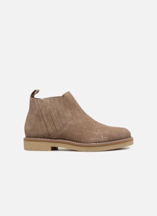 Ankle boots Monoprix Femme CHELSEA CROUTE CUIR Beige back view