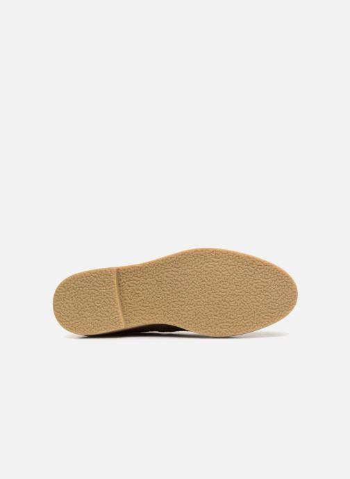 Stiefeletten & Boots Monoprix Femme CHELSEA CROUTE CUIR beige ansicht von oben