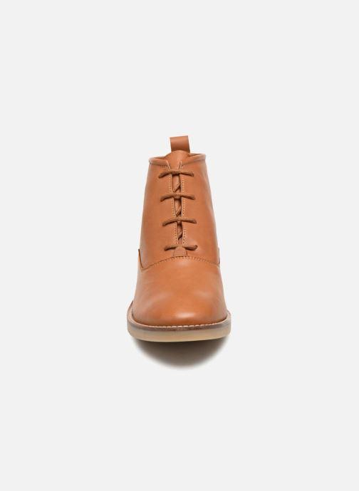 Bottines et boots Monoprix Femme GODILLOT CUIR Marron vue portées chaussures