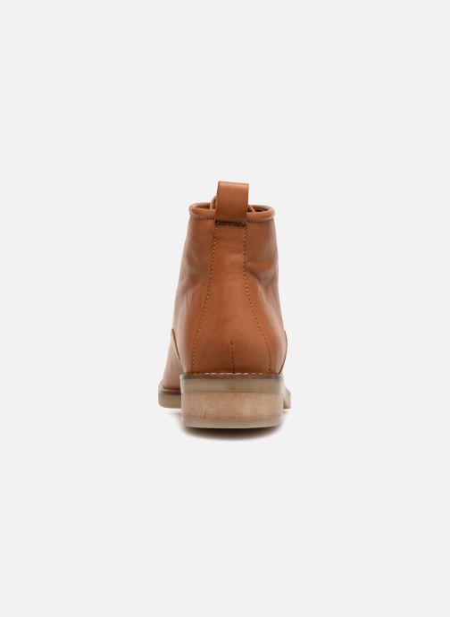 Bottines et boots Monoprix Femme GODILLOT CUIR Marron vue droite