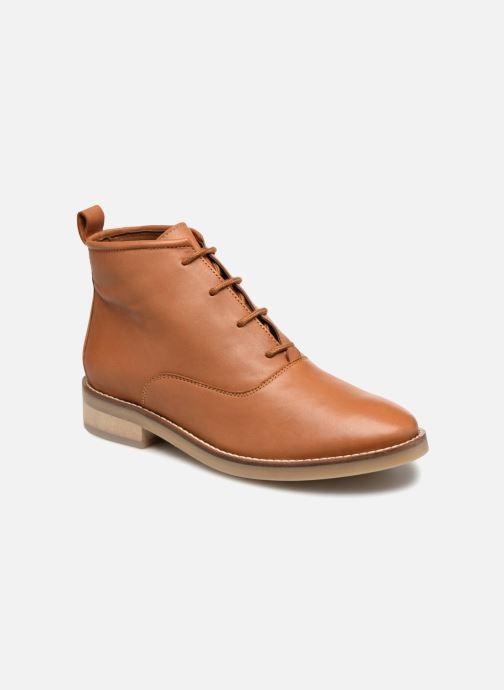 Bottines et boots Monoprix Femme GODILLOT CUIR Marron vue détail/paire