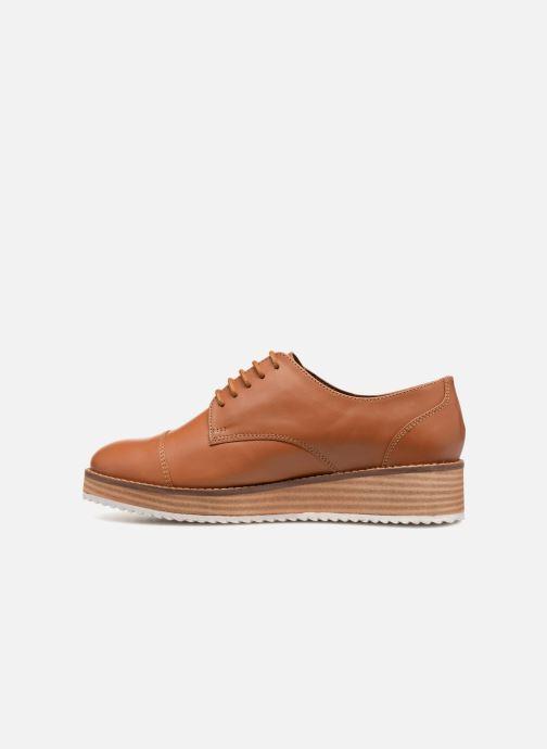 Chaussures à lacets Monoprix Femme DERBY CUIR Marron vue face