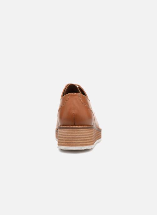 Chaussures à lacets Monoprix Femme DERBY CUIR Marron vue droite