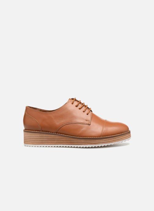 Chaussures à lacets Monoprix Femme DERBY CUIR Marron vue derrière