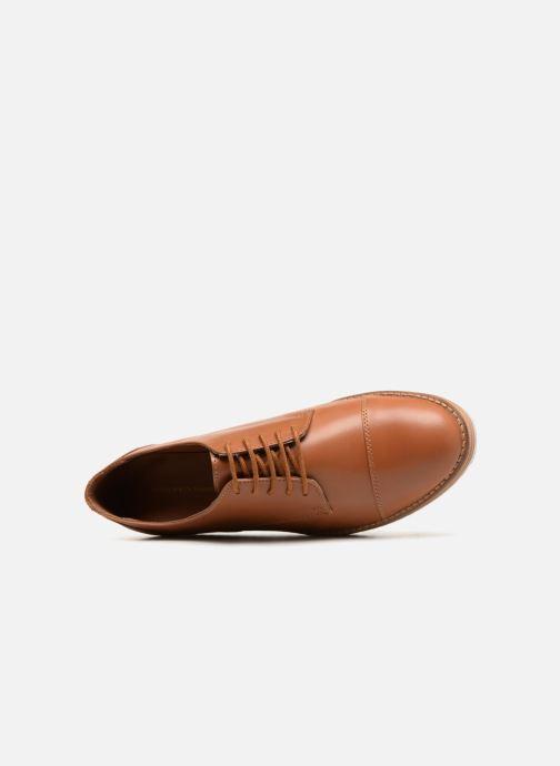 Chaussures à lacets Monoprix Femme DERBY CUIR Marron vue gauche
