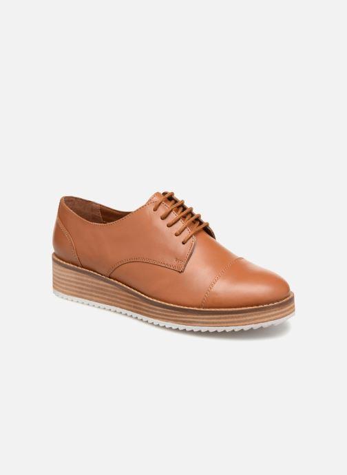 Chaussures à lacets Monoprix Femme DERBY CUIR Marron vue détail/paire