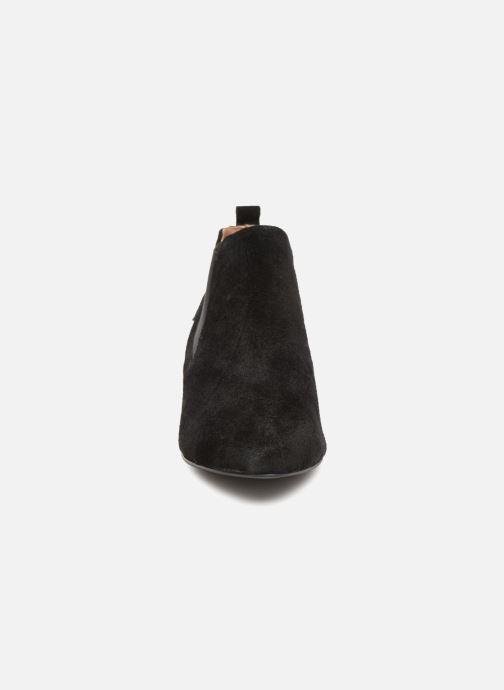 Bottines et boots Monoprix Femme BOOTS TALON CUIR Noir vue portées chaussures