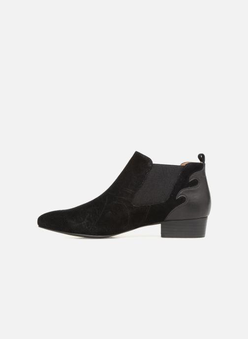 Bottines et boots Monoprix Femme BOOTS TALON CUIR Noir vue face
