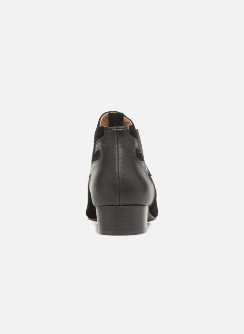 Bottines et boots Monoprix Femme BOOTS TALON CUIR Noir vue droite