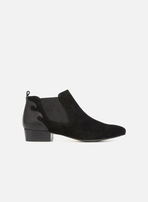 Bottines et boots Monoprix Femme BOOTS TALON CUIR Noir vue derrière
