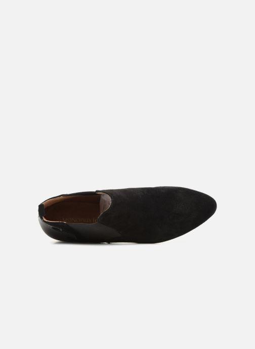 Bottines et boots Monoprix Femme BOOTS TALON CUIR Noir vue gauche