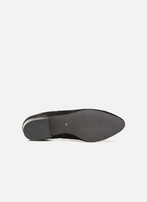 Bottines et boots Monoprix Femme BOOTS TALON CUIR Noir vue haut
