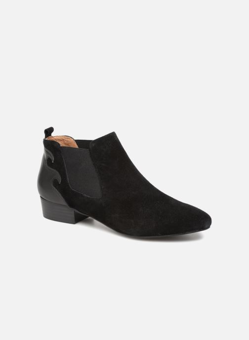 Bottines et boots Monoprix Femme BOOTS TALON CUIR Noir vue détail/paire