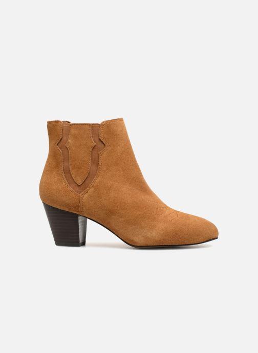 Bottines et boots Monoprix Femme BOTTINES CROUTE CUIR SURPIQURE Marron vue derrière