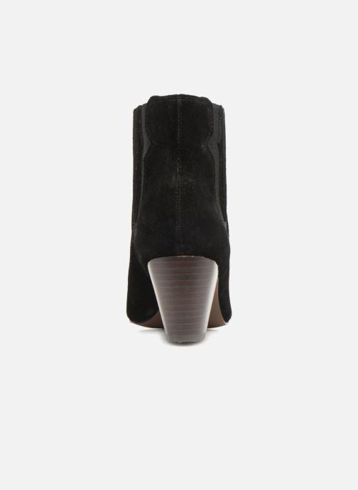 Bottines et boots Monoprix Femme BOTTINES CROUTE CUIR SURPIQURE Noir vue droite