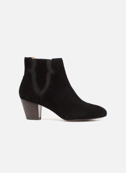 Bottines et boots Monoprix Femme BOTTINES CROUTE CUIR SURPIQURE Noir vue derrière