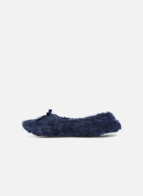 Slippers Monoprix Femme Ballerine doudou Blue front view