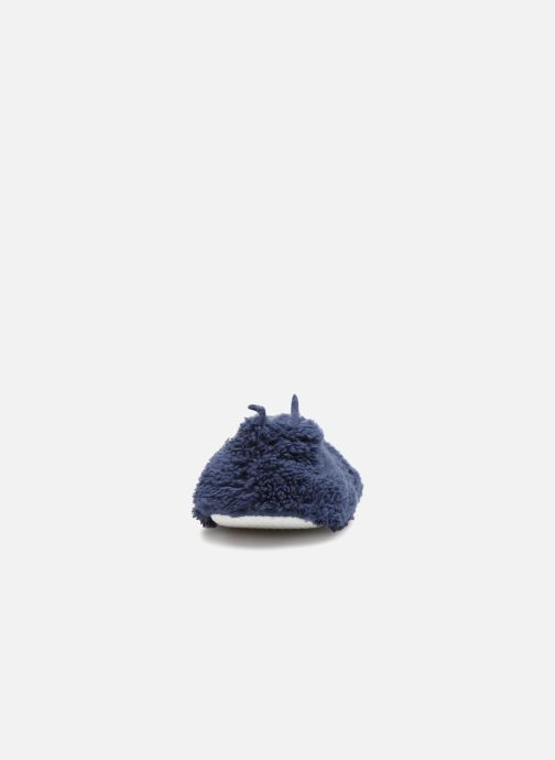 Slippers Monoprix Femme Ballerine doudou Blue view from the right