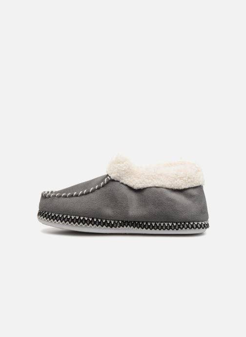Pantofole Monoprix Femme MOCASSIN FOURRE Grigio immagine frontale