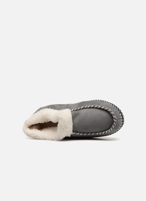 Pantofole Monoprix Femme MOCASSIN FOURRE Grigio immagine sinistra
