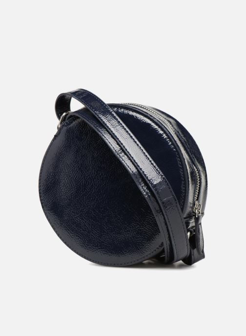 Bolsos de mano Monoprix Femme CROSSBODY ROND PU VERNI Azul vista lateral derecha