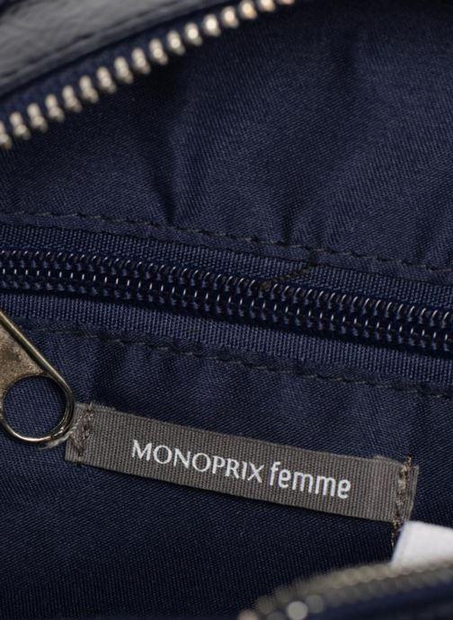 Sacs à main Monoprix Femme CROSSBODY ROND PU VERNI Bleu vue derrière