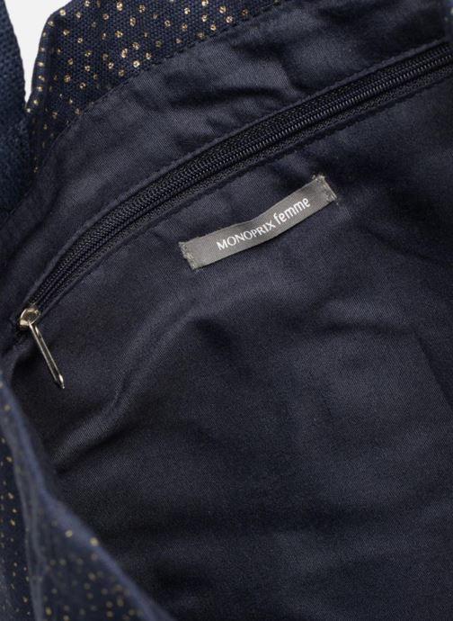 Sacs à main Monoprix Femme CABAS POIS Bleu vue derrière