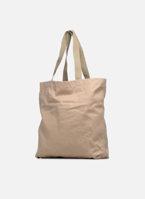 Handtaschen Monoprix Femme CABAS POIS beige schuhe getragen