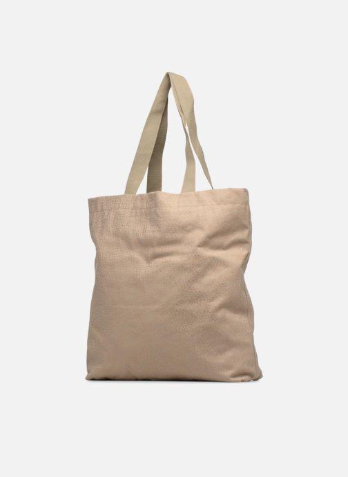 Handtaschen Monoprix Femme CABAS POIS beige ansicht von rechts