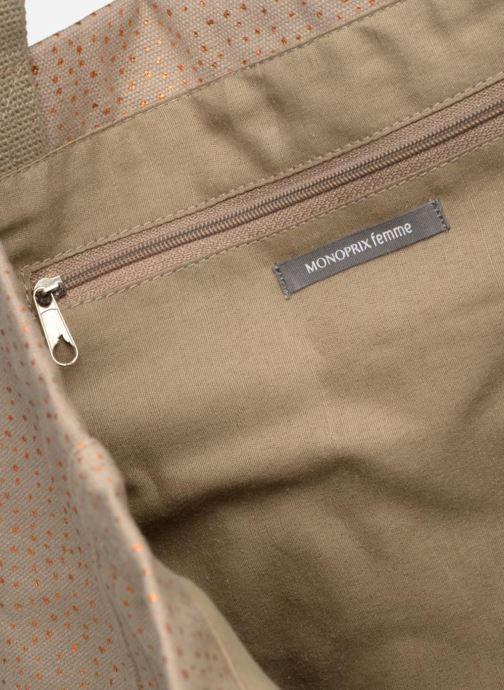 Handtaschen Monoprix Femme CABAS POIS beige ansicht von hinten