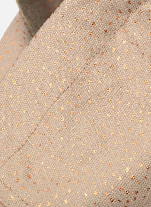 Handtaschen Monoprix Femme CABAS POIS beige ansicht von links