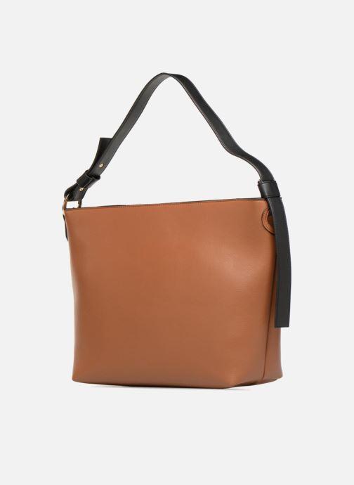 Handtaschen Monoprix Femme BESACE BIMATIERE braun ansicht von rechts