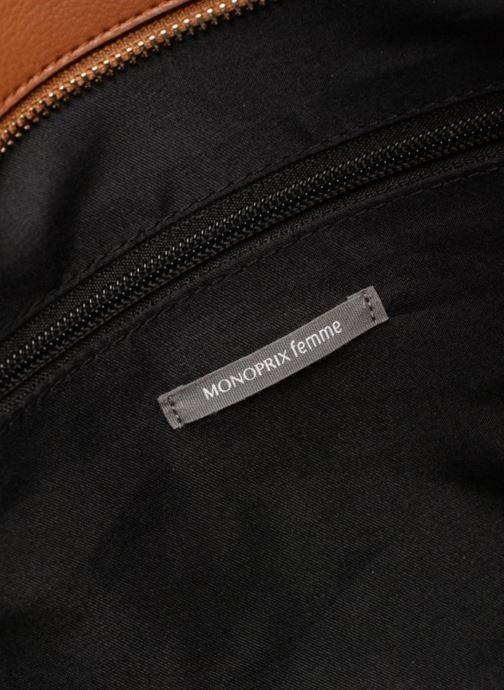 Borse Monoprix Femme BESACE BIMATIERE Marrone immagine posteriore