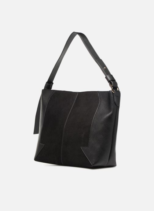 Handbags Monoprix Femme BESACE BIMATIERE Black model view