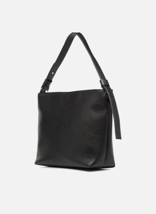 Handbags Monoprix Femme BESACE BIMATIERE Black view from the right