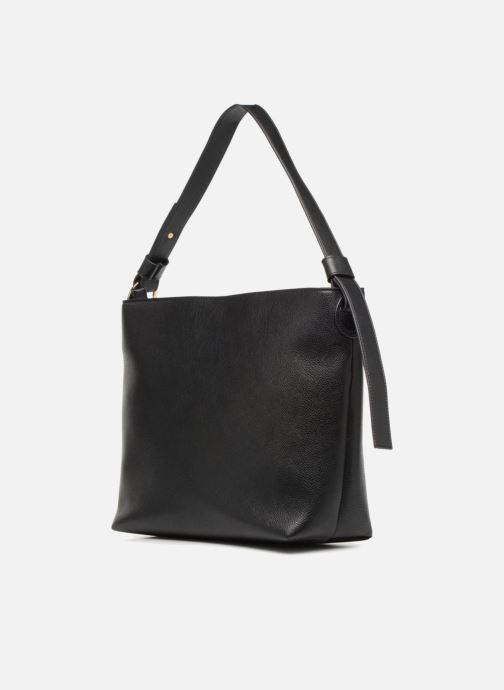 Handtassen Monoprix Femme BESACE BIMATIERE Zwart rechts