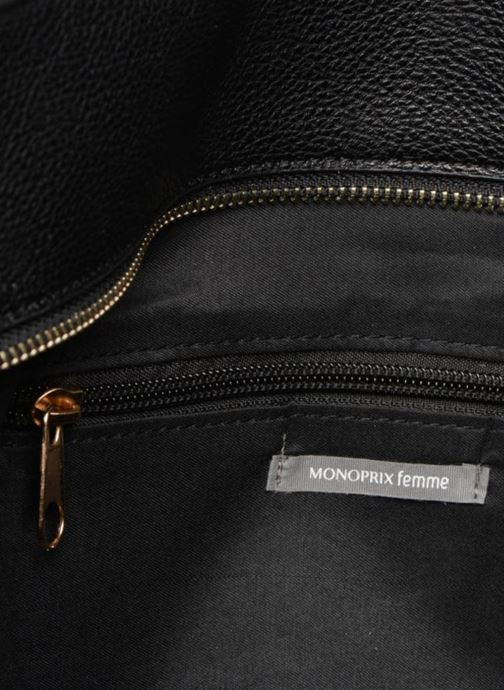 Handbags Monoprix Femme BESACE BIMATIERE Black back view
