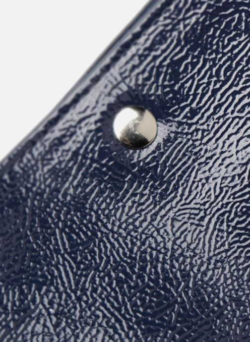 Sacs à main Monoprix Femme CABAS PU VERNI Bleu vue gauche