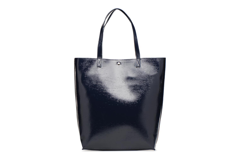 Sacs à main Monoprix Femme CABAS PU VERNI Bleu vue détail/paire