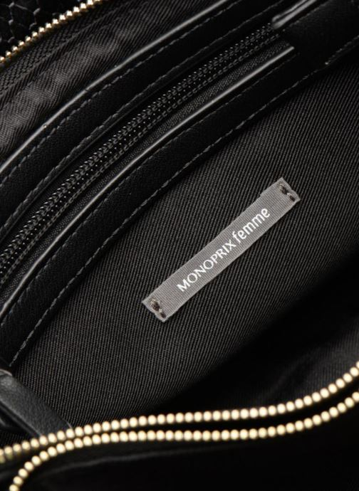 Noir Monoprix Velours Crossbody Femme 2 Zip R4jL5A