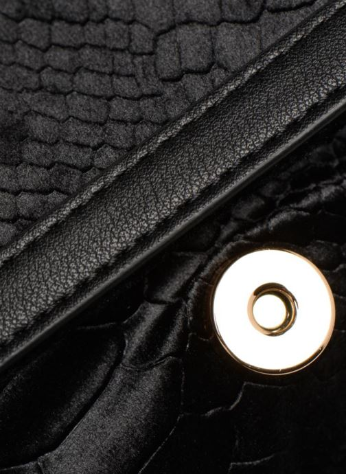 Sacs à main Monoprix Femme CROSSBODY VELOURS 2 ZIP Noir vue gauche