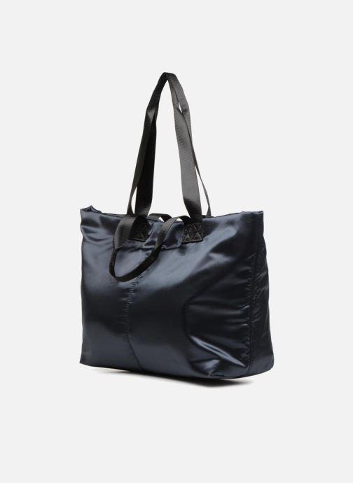Handtaschen Monoprix Femme CABAS SATIN UNI blau schuhe getragen
