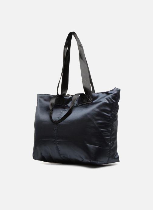 Handtaschen Monoprix Femme CABAS SATIN UNI blau ansicht von rechts