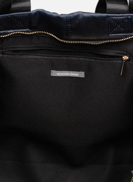 Handtassen Monoprix Femme CABAS SATIN UNI Blauw achterkant