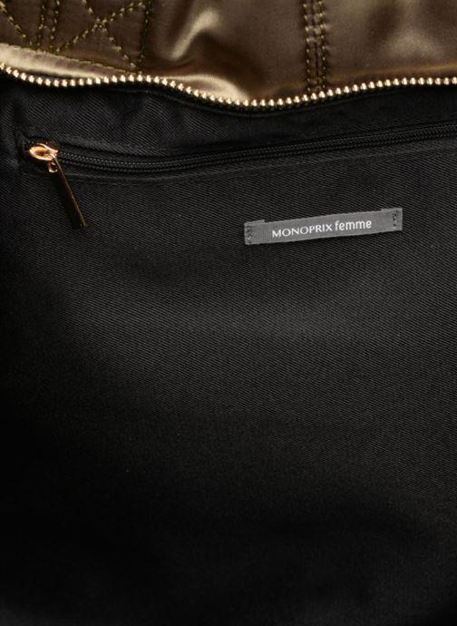 Handtassen Monoprix Femme CABAS SATIN UNI Groen achterkant