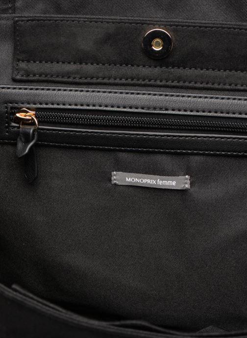 Handtassen Monoprix Femme BESACE BI MATIERE Zwart achterkant