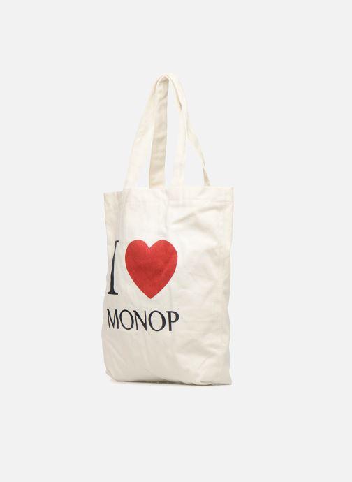 Sacs à main Monoprix Femme TOTE BAG I LOV MONOPRIX Blanc vue portées chaussures