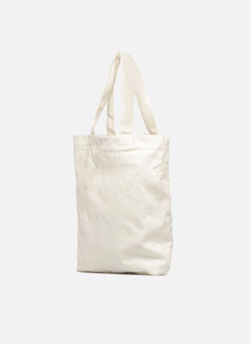 Sacs à main Monoprix Femme TOTE BAG I LOV MONOPRIX Blanc vue droite